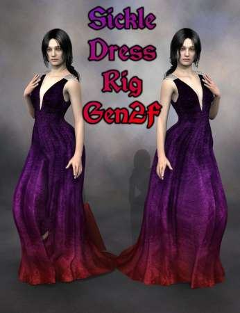 Sickle Dress Rig Genesis 2 Female