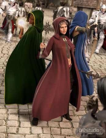 Medieval Cloaks for Genesis 2 Female(s)