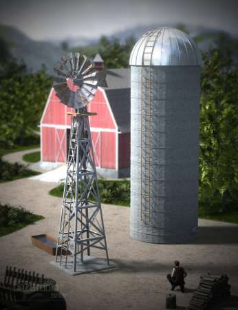 DAZ Water Pump and Grain Silo